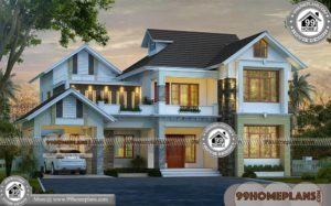 Simple Indian House Design Pictures | 50+ Double Storey Plans, Designs