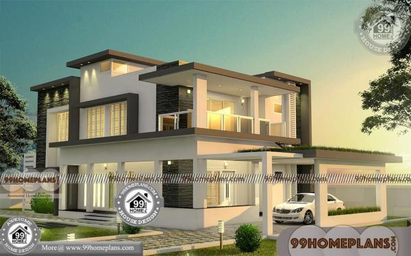Simple Rectangular House Plans with 3D Elevations |700+ Modern Plans
