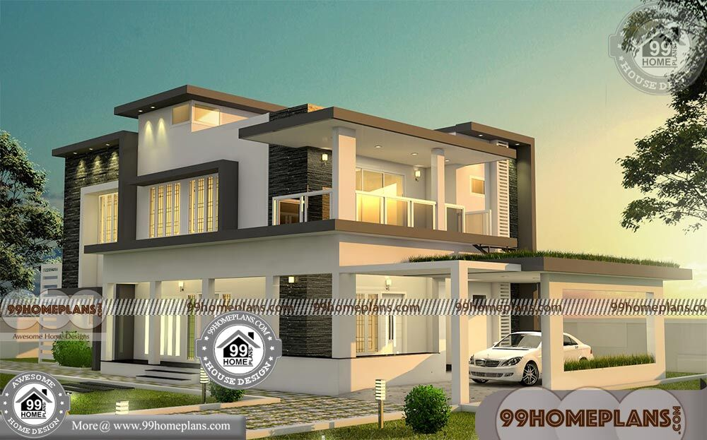 Simple rectangular house plans with 3d elevations 700 for Rectangular house plans modern