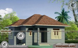 Single Floor House Elevation with Traditional Small & Simple Home Plans