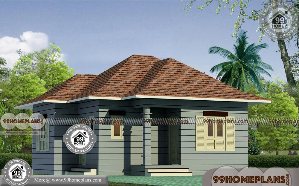Single Floor Elevation Simple : Single floor house elevation with traditional small