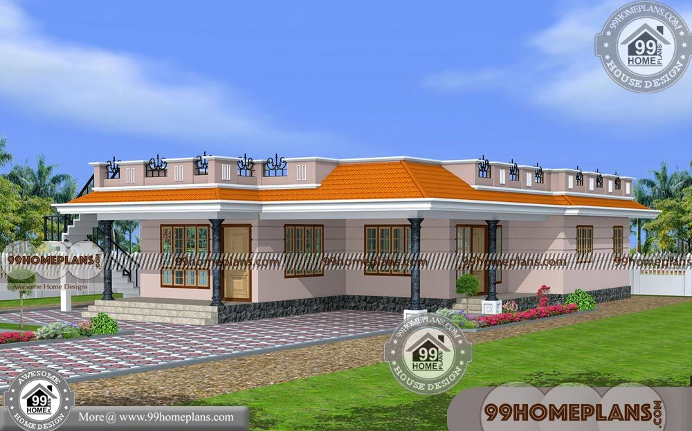 Single House Floor Design | One Level Home Plans with 1800 sq ft Ideas