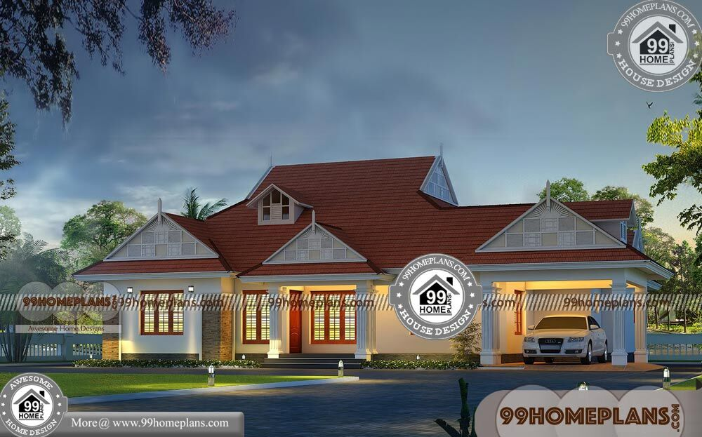 Single Storey House Design with 3D Elevations | Best Exterior Collections