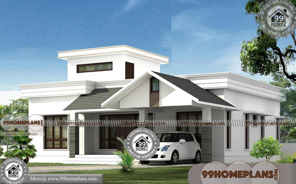 Single Story Modern House Designs With 3d Elevations 750