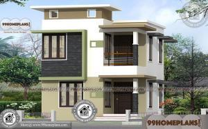 Small 4 Bedroom Home Plans with Two Floor City Style Apartment Design