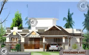 Small Cottage House Plans | Single Story Traditional Style Home Designs