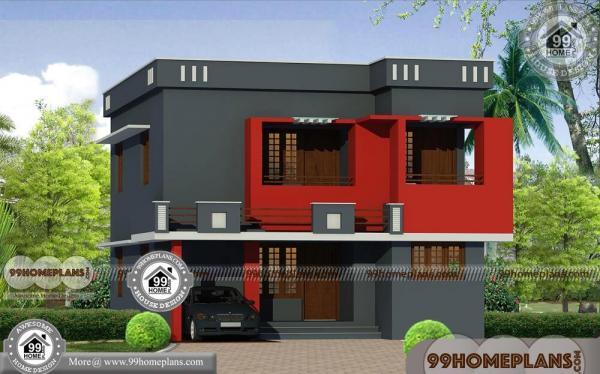 Small indian house plans modern with double story narrow for Narrow house plans india