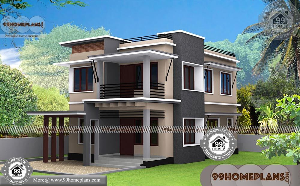 Small modern house designs with 3d elevations box type for Modern box type house design