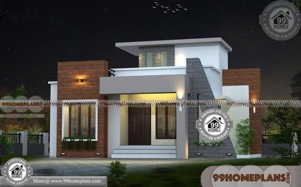 Low Cost Two Storey House Design: Small Two Storey House Design With 3D Elevations