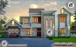 South Facing House Vastu Plan | Two Story Traditional Style Home Design