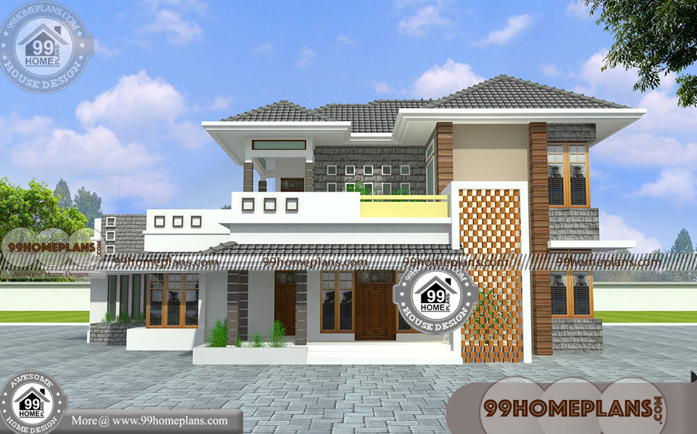 South indian traditional house designs with double story for South indian home images