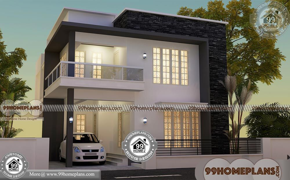 Square house floor plans with 3d elevations low cost for Cost of 2000 sq ft modular home