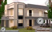Square House Plans with 3D Elevations   Low Budget Modern Collections