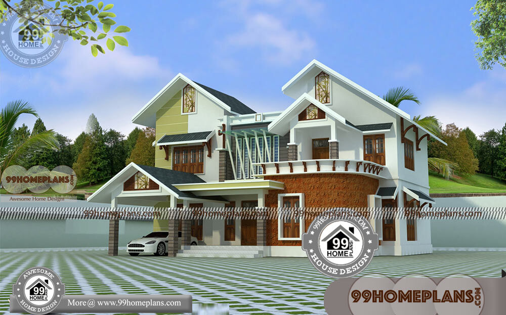 Stone house designs and floor plans with 3d elevations for 2400 sq ft house plans 3d