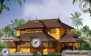 Stone House Styles with Double Story Illam Patterned Home Collections