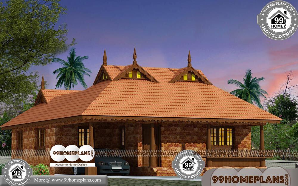 Traditional Kerala Homes With 3d Elevations Low Cost