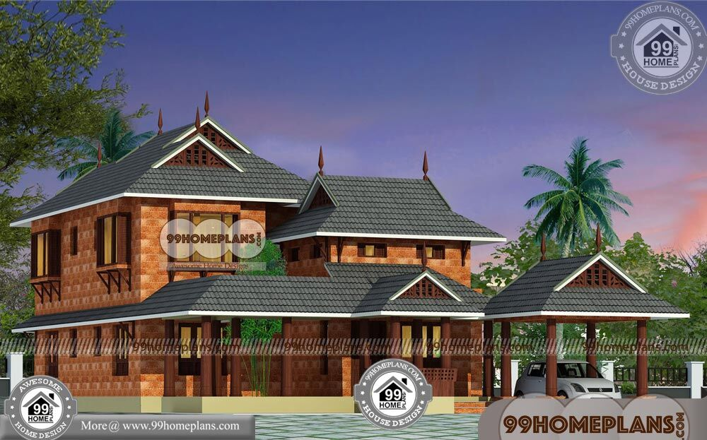 Traditional kerala style house plans with double story for Traditional 2 story house