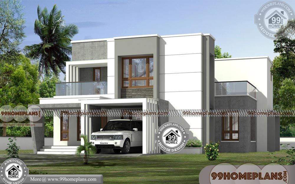 Double Storey House Plans Elevations : Two storey modern house plans with d elevations best