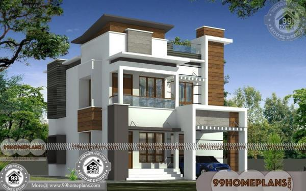 Two story homes designs with 3d elevations narrow block for 2 story house floor plans and elevations