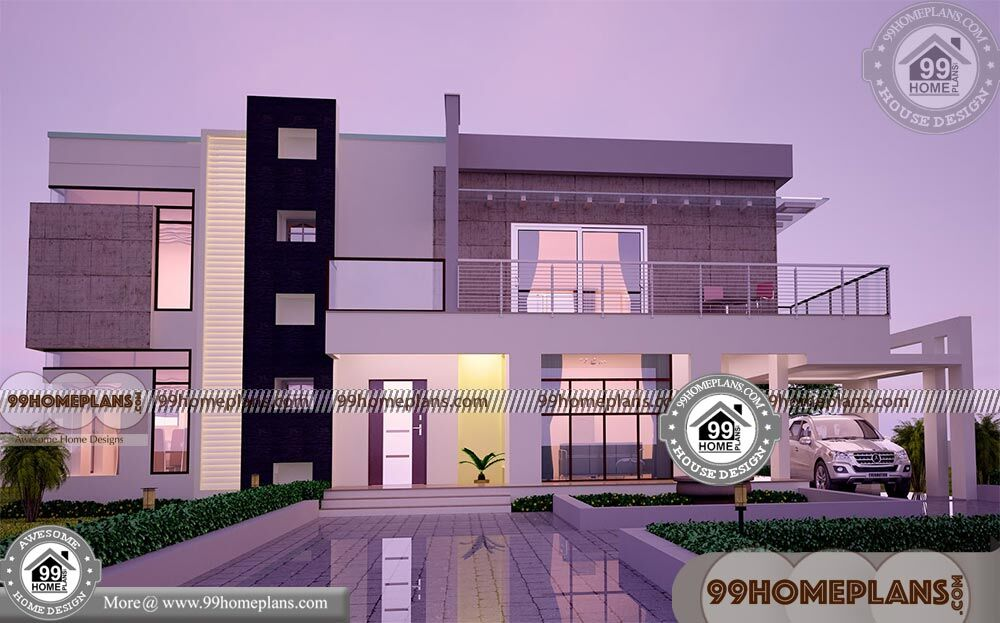 Two Story Rectangular House Plans With 3d Elevations Low