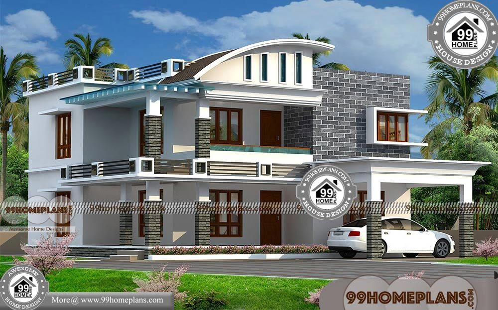 Veedu Photos In Kerala with Double Story Contemporary Modular Homes