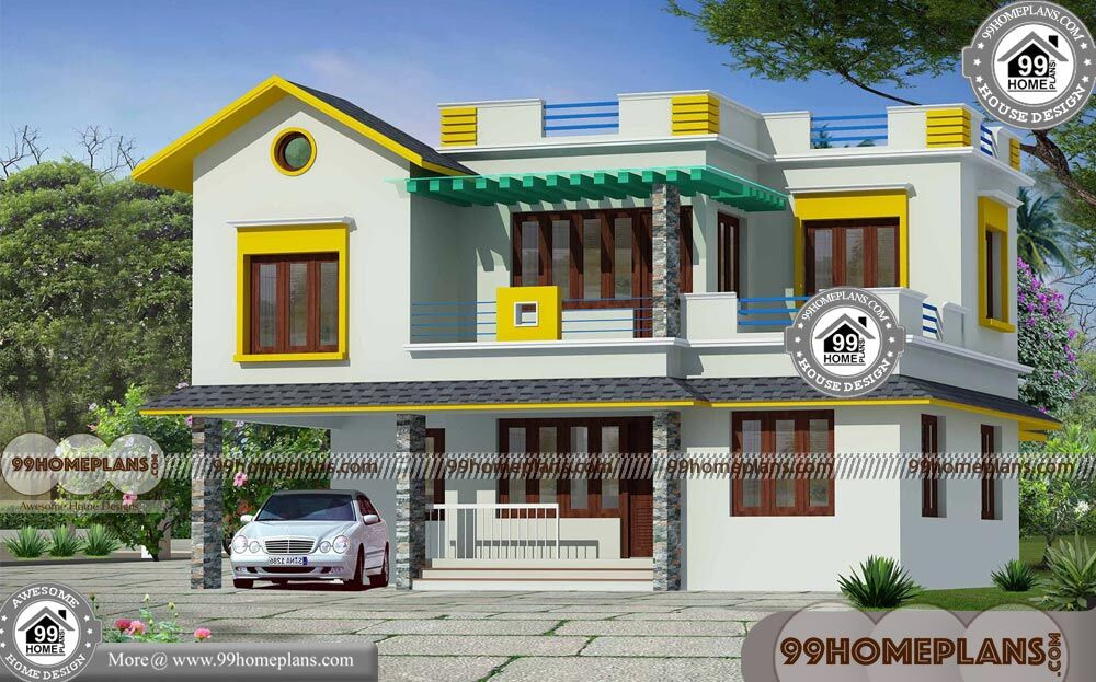 Veedu photos plans with double story cost effective huge for Cost efficient house plans