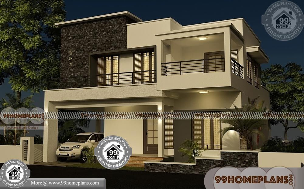 Villa House Plans with 3D Elevations | Box Type Modern ...