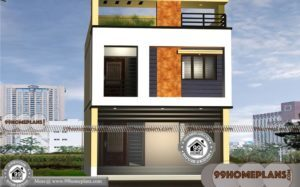 10m Narrow Block House Designs | 500+ 2 Story Cottage Plans & Designs