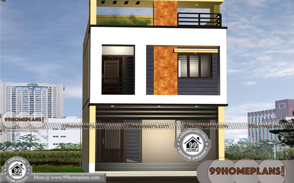 10m Narrow Block House Designs 500 2 Story Cottage