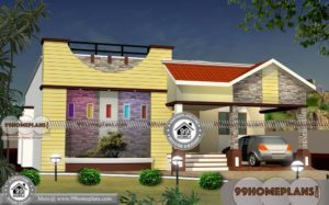 2 Bedroom Cabin Floor Plans | 1 Story Contemporary Kerala Home Plans
