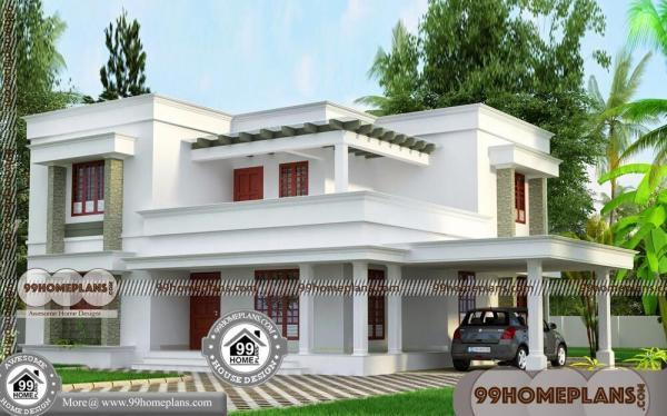 2 BHK House Plans 30×40, 2 Story Homes Low Budget Home Design India
