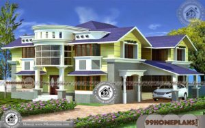 2D House Plan And Elevation | 250+ Ultra Modern House Two Storey Plan