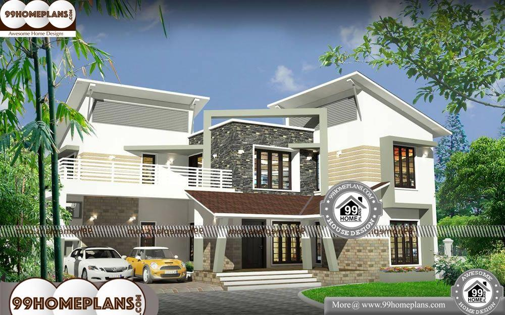 3D Elevation of Indian House - 2 Story 2700 sqft-Home