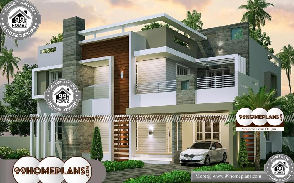3D House Design Exterior & 100+ Small 2 Story House Floor Plans, Ideas