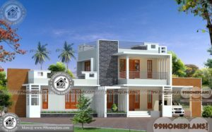 3BHK House Plan | Good House Designs In Kerala Style with 3D Elevation