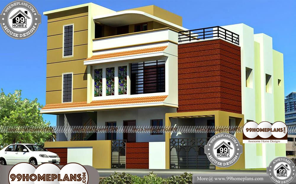 Front Elevation Of Three Storied Houses : D front elevation design collections online bhk