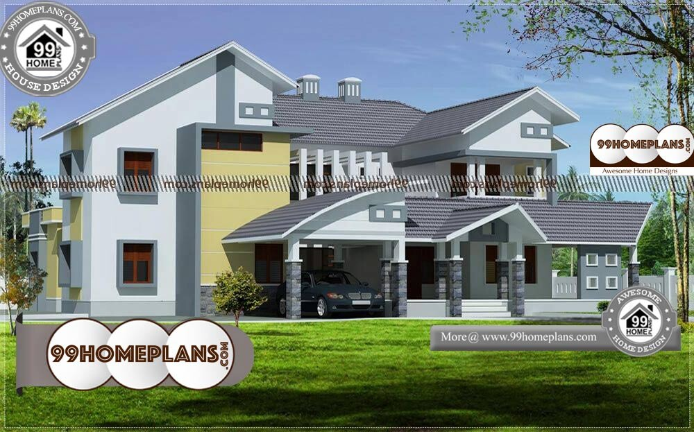 3d House Plans Indian Style - 2 Story 3500 sqft-Home