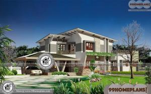 3D Elevation Home Design   90+ Small Two Story House Floor Plans Free