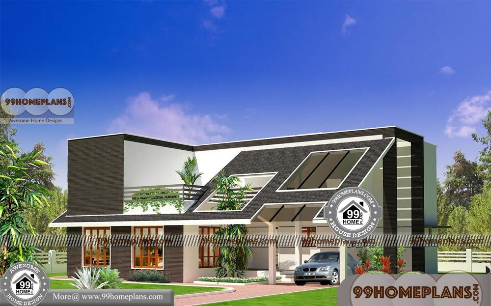 3D Elevation of House Plans   90+ Small 2 Story House Design Collections