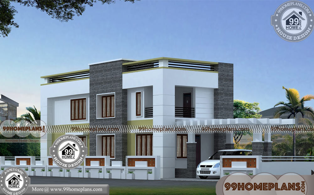 3d home elevation design with low cost contemporary house for Cost to build 1300 square foot house