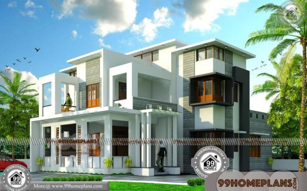 50x100 lot house plans kerala contemporary homes 50 modern plan for Modern home design photo gallery