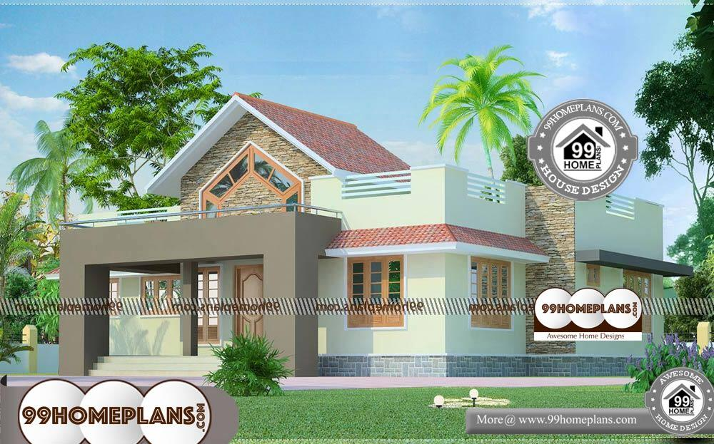 Architecture Elevation Design - Single Story 1291 sqft-Home