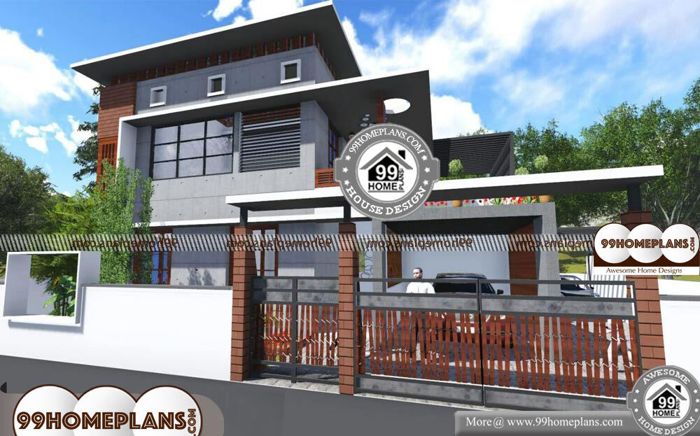 Beautiful Low Cost House Designs 2 Story 2200 sqft Home - 40+ Low Cost Small Two Storey House Plans With Balcony Background