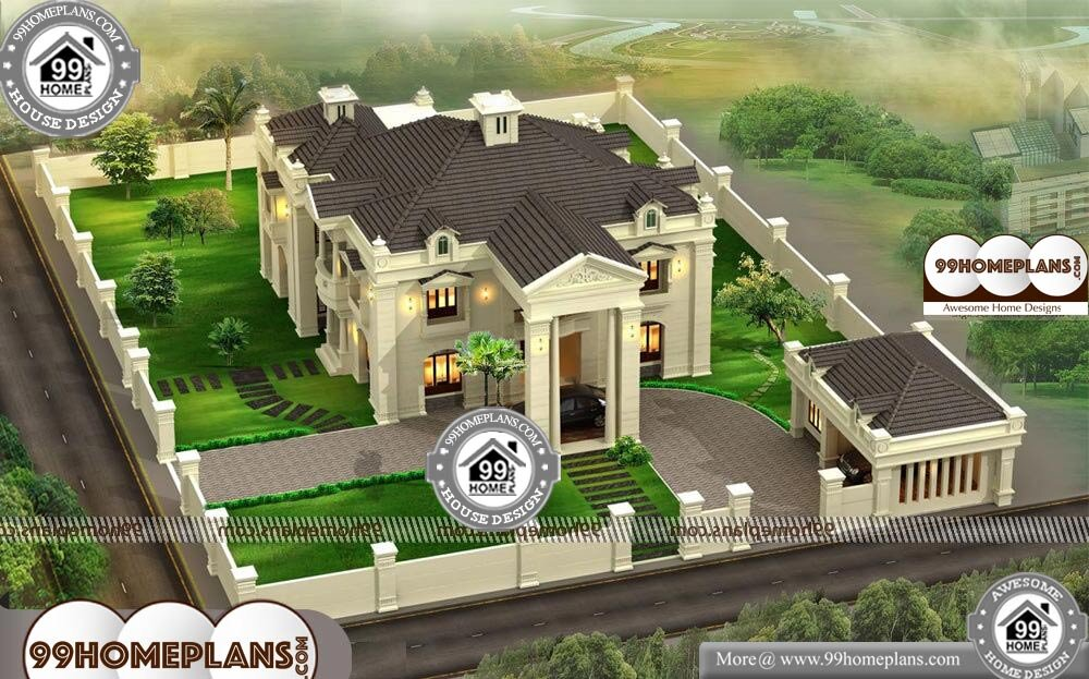 Bungalow Plans India - 2 Story 5600 sqft-Home