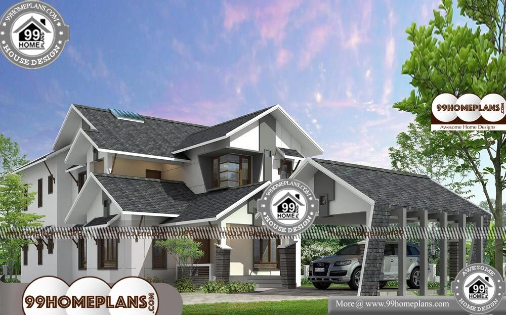 Floor Plan of A Two Storey House - 2 Story 2850 sqft-Home
