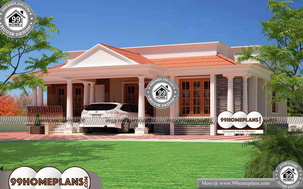 Front Elevation For Single Floor House - Single Story 1150 sqft-Home