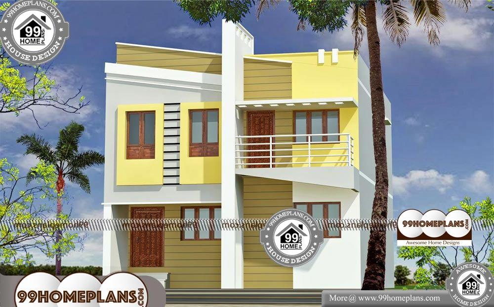 Front Elevation For Small House Photos - 2 Story 1635 sqft-Home