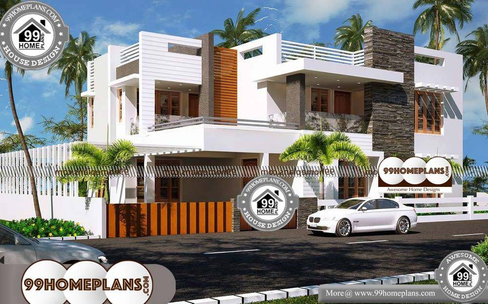 Front Elevation for Small House - 2 Story 2400 sqft-Home