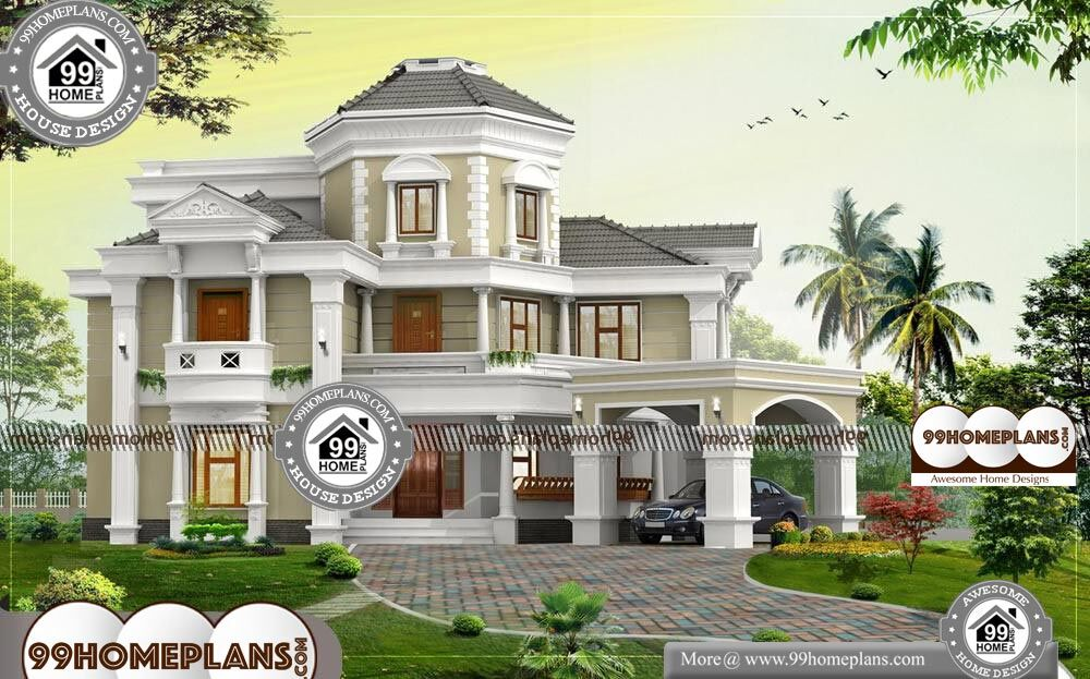 Home Design Bungalow - 3 Story 5167 sqft-Home