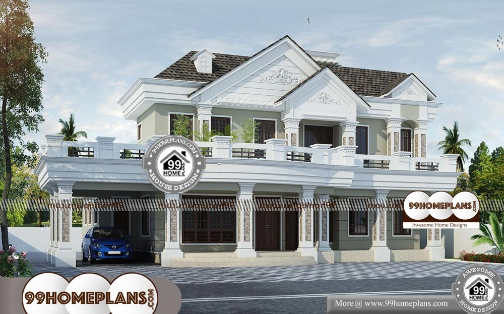 Home Front View Indian Style - 2 Story 3166 sqft-Home